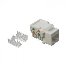 DR-5102 Datarex Розеточный модуль Keystone jack RJ45 категория Cat 5e UTP Белый