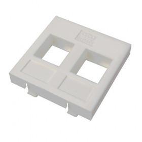 DR-5303 Datarex Вставка адаптер Адаптер Mosaic 45х45 мм для модуля Keystone 2 порта Белый
