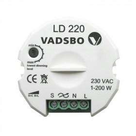 LD220 Диммер универсальный 1- 200 Вт для кнопки VADSBO V-4022010IB