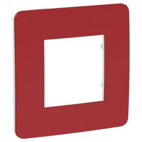 NU280213 Рамка 1-пост Schneider Electric Unica Studio Color Красный-Белый