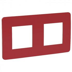 NU280413 Рамка 2-пост Schneider Electric Unica Studio Color Красный-Белый