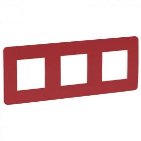 NU280613 Рамка 3-пост Schneider Electric Unica Studio Color Красный-Белый