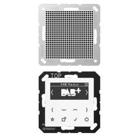 DABA1WW Встраиваемое радио с динамиком Jung программа А стекло Белое