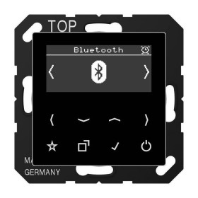 DABABTSW Встраиваемое радио с Bluetooth Jung программа А стекло Черное