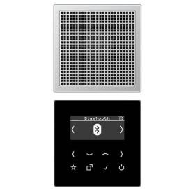 DABAL1BT Встраиваемое радио с Bluetooth и динамик Jung программа LS стекло Черное-Алюминий