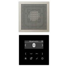 DABES1BT Встраиваемое радио с Bluetooth идинамик Jung программа LS стекло Черное-Нержавеющая сталь