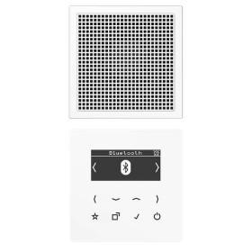 DABLS1BTWW Встраиваемое радио с Bluetooth и динамик Jung программа LS стекло Белое-Белый