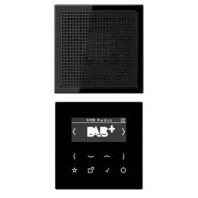 DABLS1SW Встраиваемое радио с динамиком Jung программа LS стекло Черное-Черный