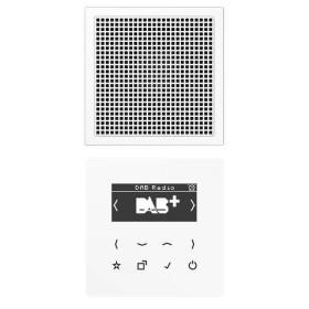 DABLS1WW Встраиваемое радио с динамиком Jung программа LS стекло Белое-Белый