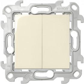 2410397-031 Выключатель двухклавишный с 2-х мест Simon 24 Harmonie Слоновая кость