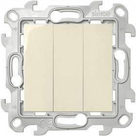 2450391-031 Выключатель трехклавишный Simon 24 Harmonie Слоновая кость