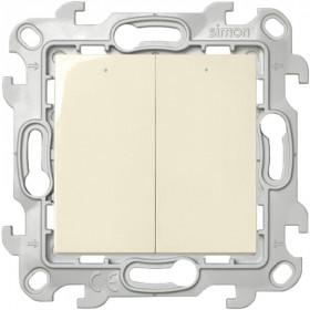 2450392-031 Двухклавишный выключатель с подвсеткой Simon 24 Harmonie Слоновая кость