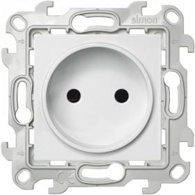 2450441-030 Розетка электрическая без земли со шторками Simon 24 Harmonie Белый