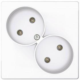 2450457-030 Розекта электрическая двойная без земли Simon 24 Harmonie Белый
