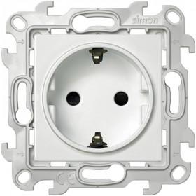 2450432-030 Розетка электрическая со шторками Simon 24 Harmonie Белый