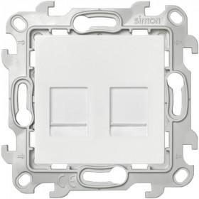 2450593-030 Розетка компьютерная RJ45 двойная Cat5е UTP Simon 24 Harmonie Белый