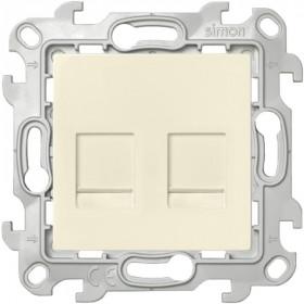 2450593-031 Розетка компьютерная RJ45 двойная Cat5е UTP Simon 24 Harmonie Слоновая кость