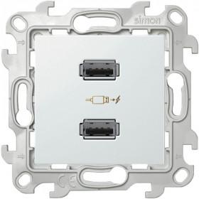 2411096-030 Розетка(зарядка) USB двойная Simon 24 Harmonie Белый