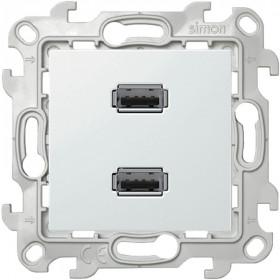 2411090-030 Розетка USB двойная Simon 24 Harmonie Белый