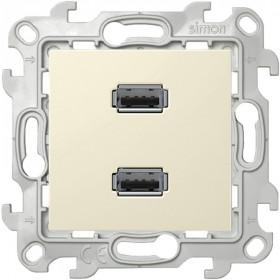 2411090-031 Розетка USB двойная Simon 24 Harmonie Слоновая кость