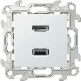 Розетка HDMI+USB Simon 24 Harmonie Белый 2411095-030