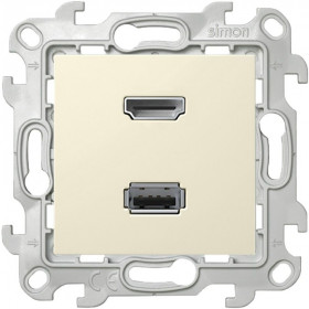 2411095-031 Розетка HDMI+USB Simon 24 Harmonie Слоновая кость