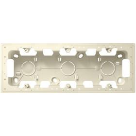 Коробка 3-ая накладного монтажа Simon 24 Harmonie Слоновая кость 2400753-031
