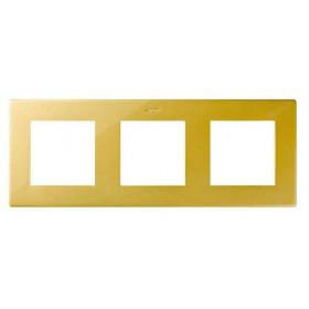 Рамка 3-ая Simon 24 Harmonie Золото 2400630-066