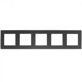 Рамка 5-ая Simon 24 Harmonie Графит 2400650-038