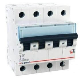 """404068 Автоматический выключатель 4-полюса 10A хар """"С"""" 6кА (TX3)"""