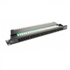 DR-4071 Datarex Патч панель 19' 50 портов категория Cat 3 UTP USOC 2 пары Черный