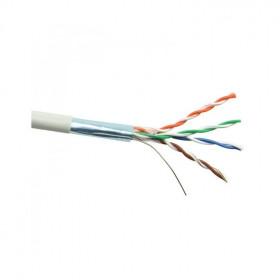 DR-140101 Datarex Кабель витая пара категория Cat 5e 4 пары 24AWG F/UTP экранированный PVC нг(А)-LS серый катушка 305 м