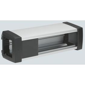 KFP108-14 Блок розеточный OFIBLOCK PLUS на 8 механизмов 45*45мм (пустой), Графит
