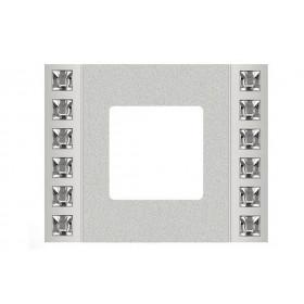 Рамка 1-ая Fede Crystal De Luxe Decor Серебро FD01281CB IP20