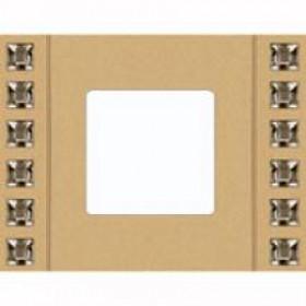 Рамка 1-ая Fede Crystal De Luxe Sand Золото FD01261OR IP20