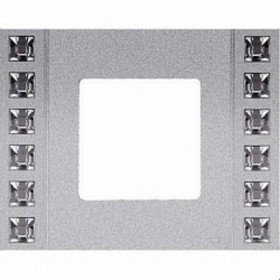 Рамка 1-ая Fede Crystal De Luxe Sand Серебро FD01261CB IP20