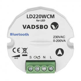 LD220WCM Диммер универсальный с Bluetooth управлением, 1-200 ВА VADSBO V-4022010WCM