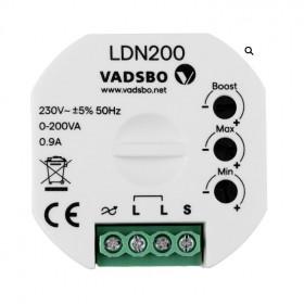 LDN200 Диммер универсальный 1- 200 Вт без нейтрали для кнопки VADSBO V-40P0200-001N
