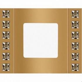 Рамка 1-ая Fede Crystal De Luxe Velvet Золото FD01271OR IP20