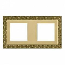 Рамка 2-ая Fede San Sebastian Bright Gold FD01222OB IP20