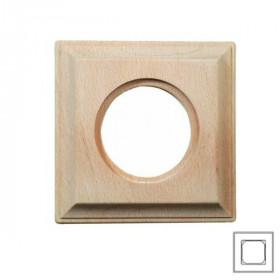 36831002 Рамка 4 места с квадратным вырезом CARRE, БУК