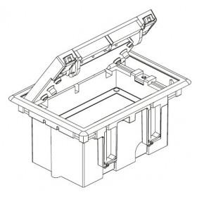 SF110-14 Лючок Simon для фальш-полов на 2 механизма черный