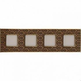 Рамка 4-ая Fede Vintage Tapestry Decor Brass/Светлое золото FD01324DBOB IP20