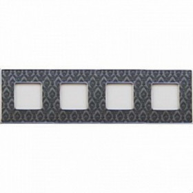Рамка 4-ая Fede Vintage Tapestry Decor Noir/Светлый хром FD01324DNCB IP20
