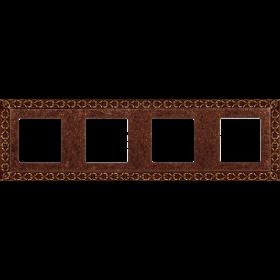 Рамка 4-ая Fede San Sebastian Rustic Copper FD01224RU IP20