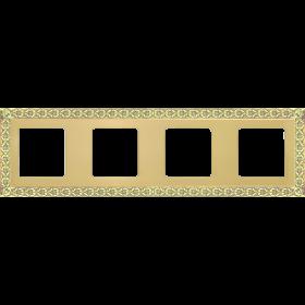 FD01224OB Рамка 4-я(SAN SEBASTIAN), Bright Gold
