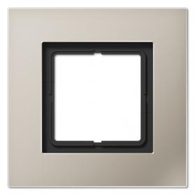 Рамка 1-ая Jung LS plus Нержавеющая сталь LSP981ES IP20