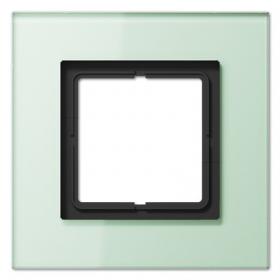 Рамка 1-ая Jung LS plus Стекло светло-зеленое LSP981GLAS IP20
