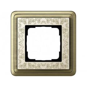 Рамка 1-ая Gira ClassiX Art Бронза/Кремовый 211663 IP20