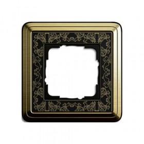 Рамка 1-ая Gira ClassiX Art Латунь/Черный 211672 IP20